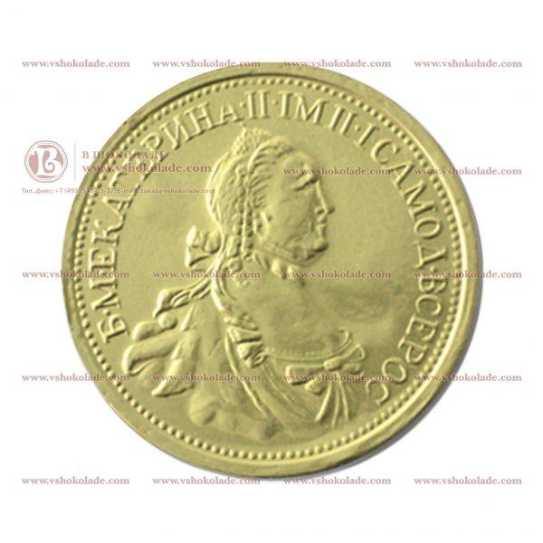 Шоколадная монета 25 г, чеканка - императоры