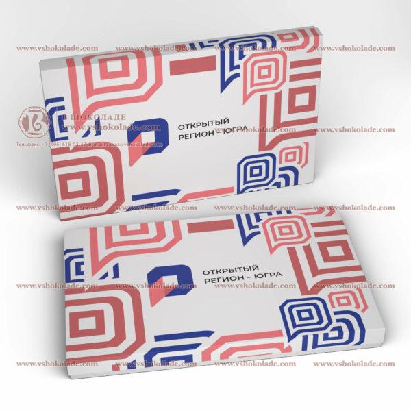 "Набор на 60 шоколадных плиток с логотипом заказчика ""Амфитеатр 60"""