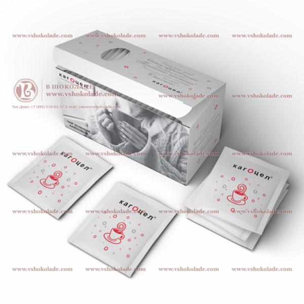 Чай с логотипом клиента 25 шт в подарочной коробке - пачке
