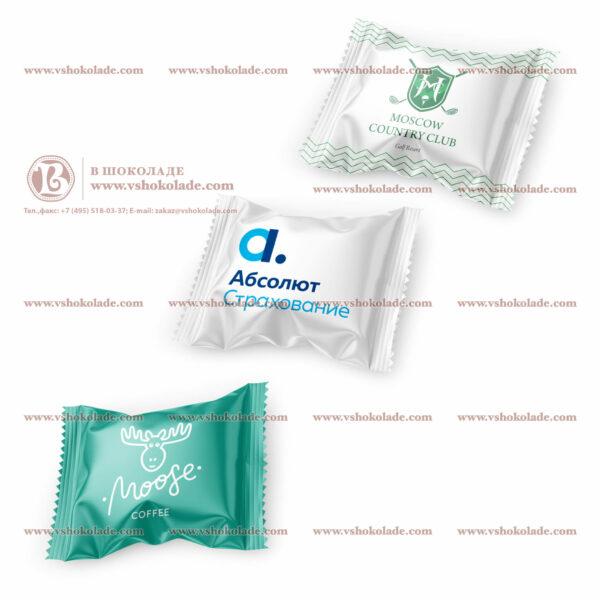 Жевательная резинка Mentos с логотипом заказчика