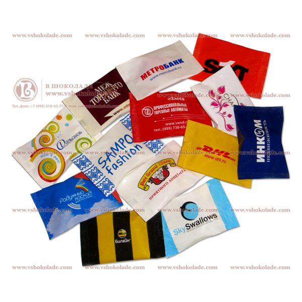 Карамель с логотипом в упаковке флоу-пак
