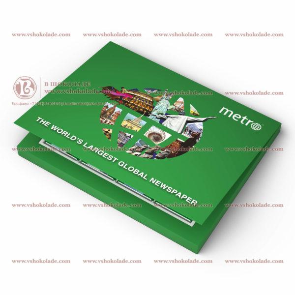 Шоколадный набор из 8 плиток с логотипом заказчика