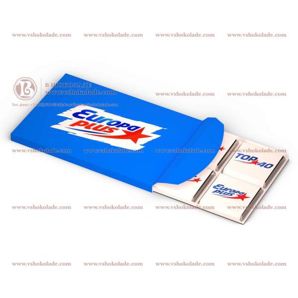 Набор шоколадок Мини - 6 плиток по 5г с Вашим логотипом