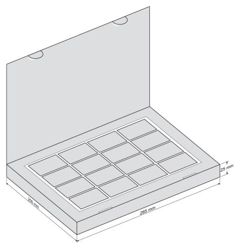 Набор 16 Книга - чертеж коробки