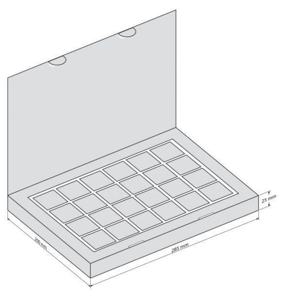 Набор 24 Книга - чертеж коробки