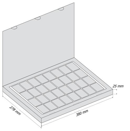 Набор 32 Книга - чертеж коробки