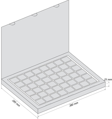 Набор 48 Книга - чертеж коробки