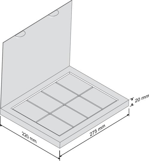 Набор Большая восьмерка - чертеж коробки