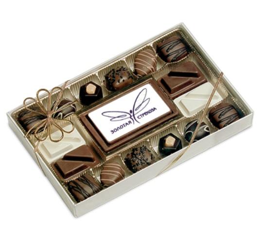 Набор конфет с визиткой