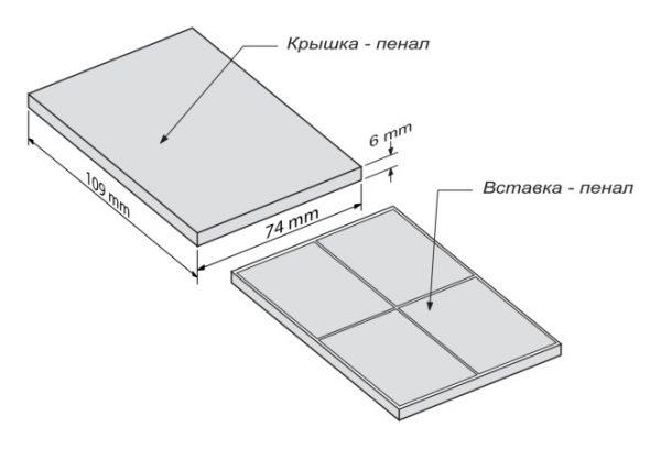 Набор Мини 2 - чертеж коробки