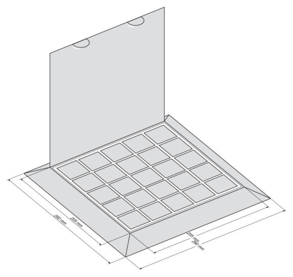 Набор Пирамида - чертеж коробки
