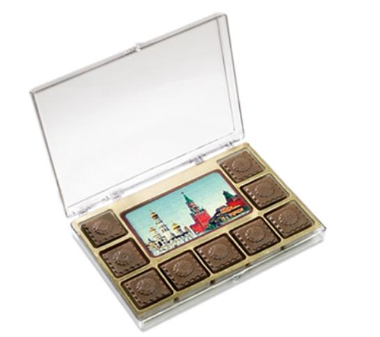 Набор с визиткой и 9 шоколадками