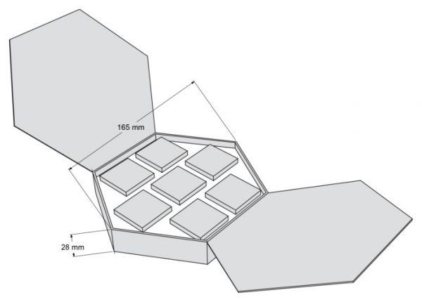Набор Шестигранник - чертеж коробки