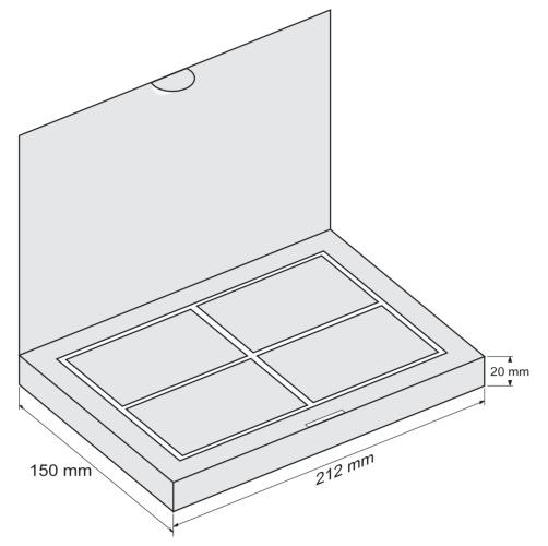 Набор Тетра Книга - чертеж коробки