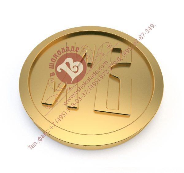 Пасхальная шоколадная медаль