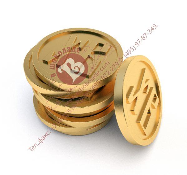 Пасхальная шоколадная монета