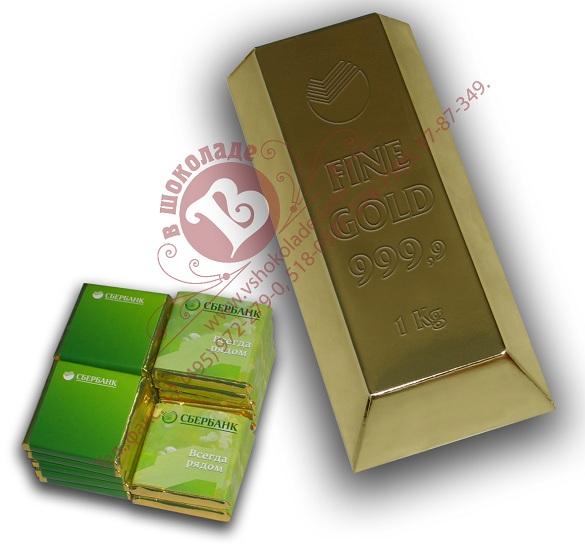 Подарочный набор Большой слиток с шоколадками