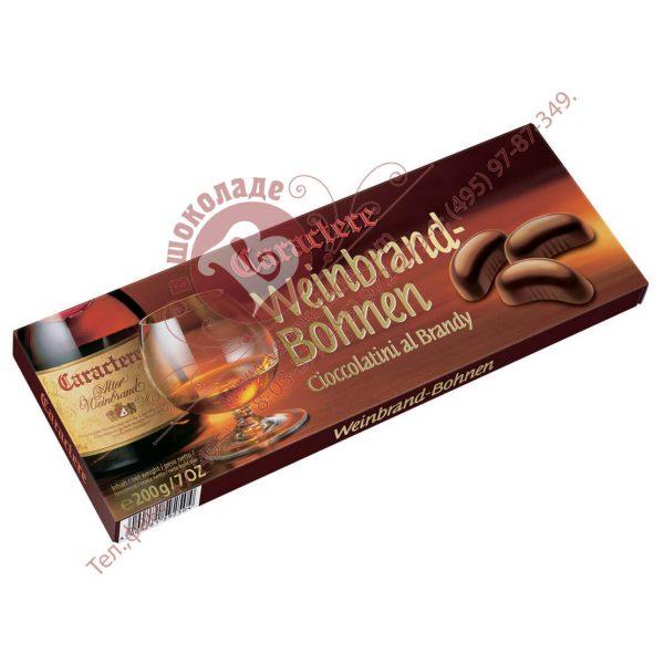 Подарочный набор из шоколадных конфет с коньяком (бренди) CARACTERE