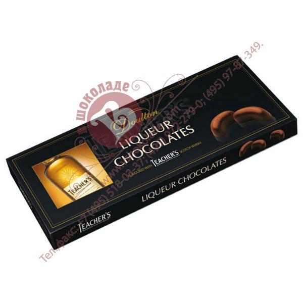 Подарочный набор из шоколадных конфет с шотландским виски Тичер'с Хайленд Крим