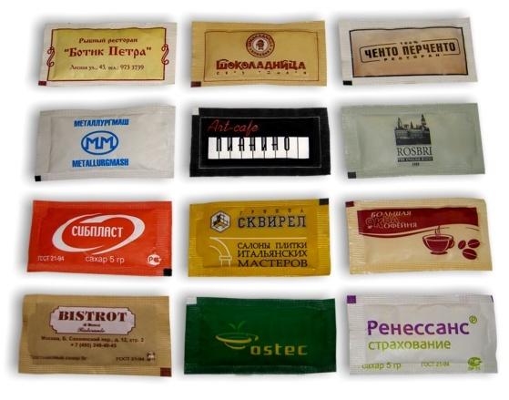 Порционный сахар в пакетиках