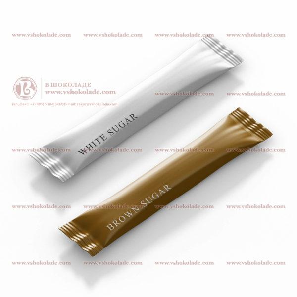 Порционный сахар в упаковке со стандартным дизайном