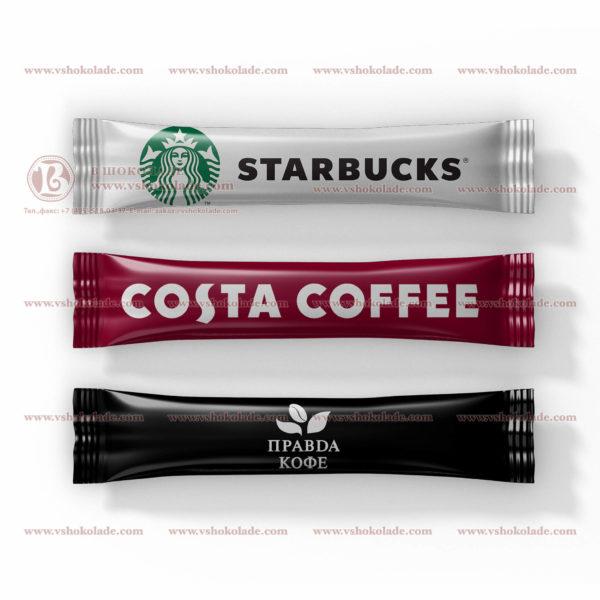 Порционный сахар с логотипом Вашей компании в формате стика - трубочки