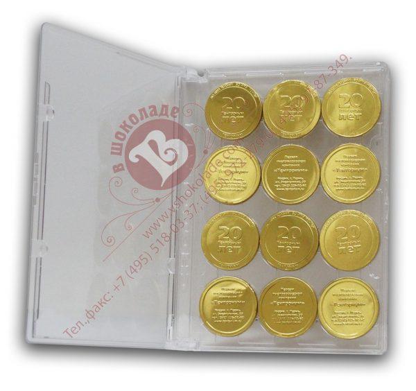 Шоколад в прозрачном пластике - набор Медали