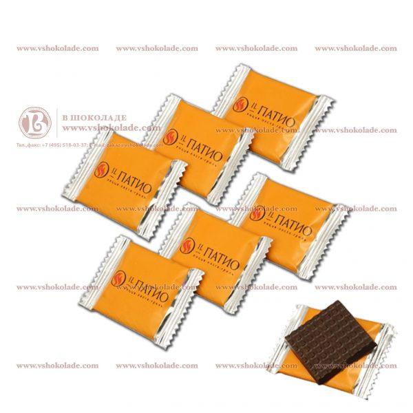 Шоколад в упаковке флоупак