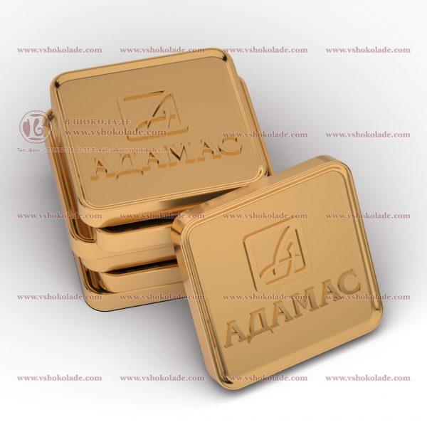 Шоколадные слитки чеканка - Ваш логотип