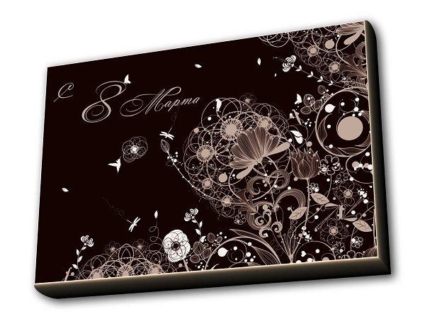 Шоколадный набор 8 Марта - 24 пенал горизонталь