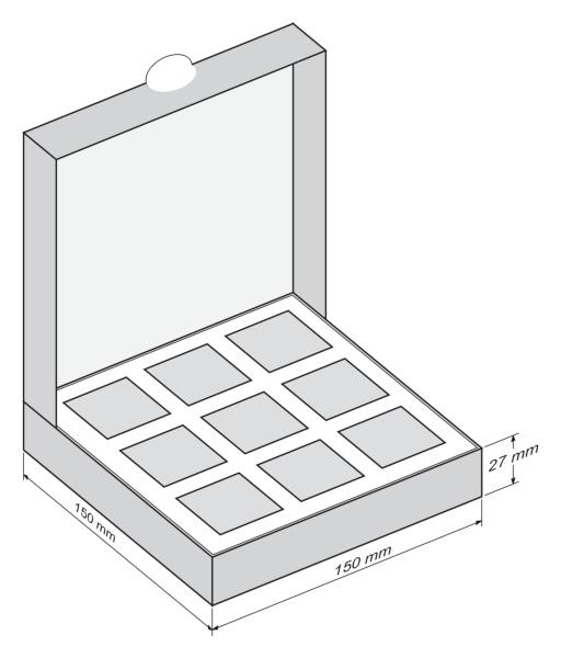 Шоколадный набор 8 Марта - девятка - чертеж коробки