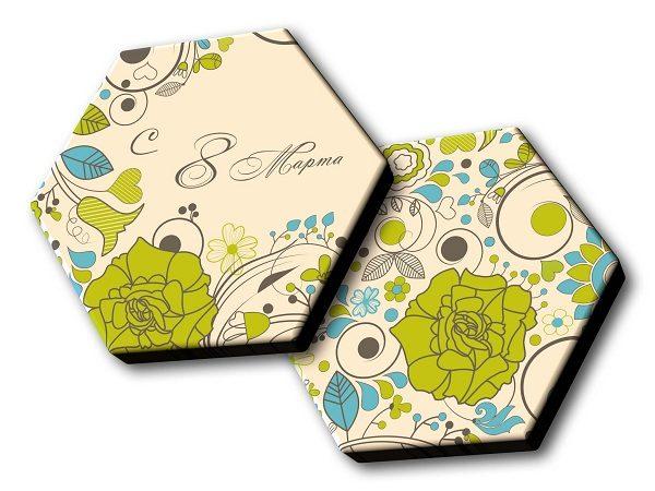 Шоколадный набор 8 Марта - шестигранник №1