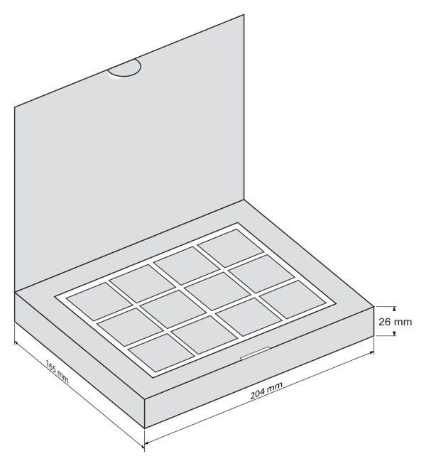 Шоколадный набор Дюжина - чертеж коробки