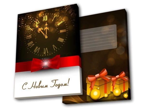Шоколадный набор Тетра пенал - часы rus вертикаль