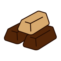 Шоколадные слитки