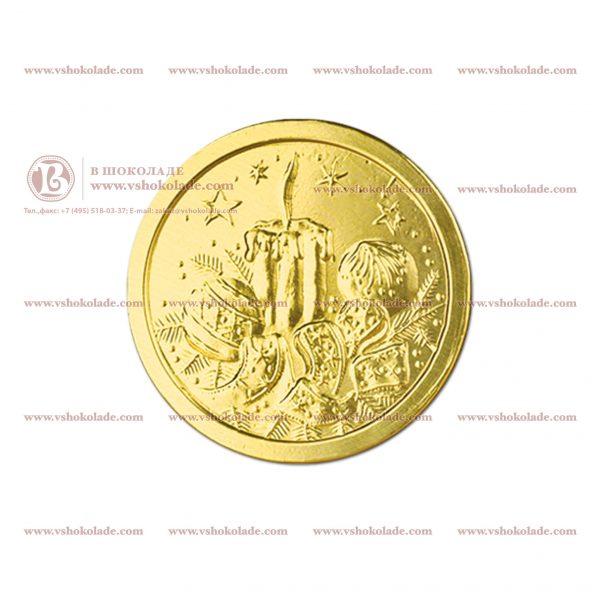 6г шоколадные деньги с символикой Нового Года