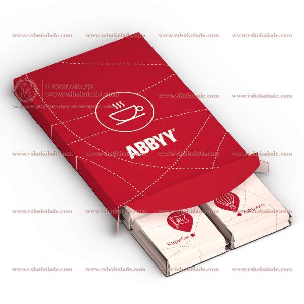 Шоколадный набор с логотипом Дюжина - эконом 12 шоколадок по 5 г