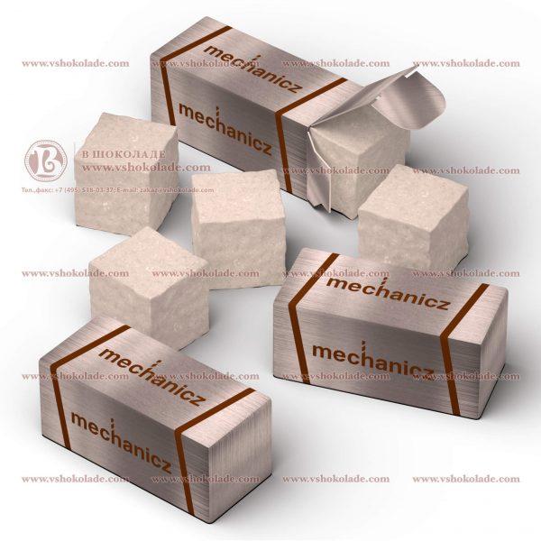 VIP сахар с логотипом. Кусковой, в формате двух кубиков упакованных в брендированную коробочку.