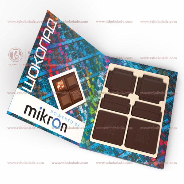 Барельефные шоколадки в форме микросхем и контроллеров
