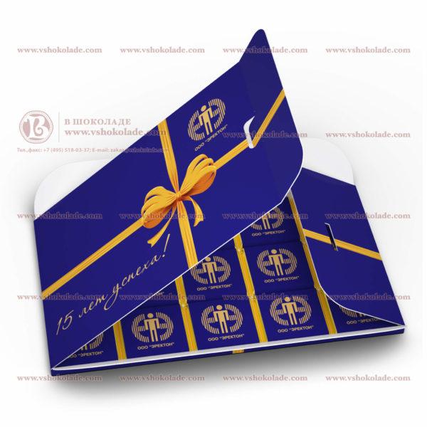 Набор шоколадок с логотипом «Симпл» 15 плиток по 5 г