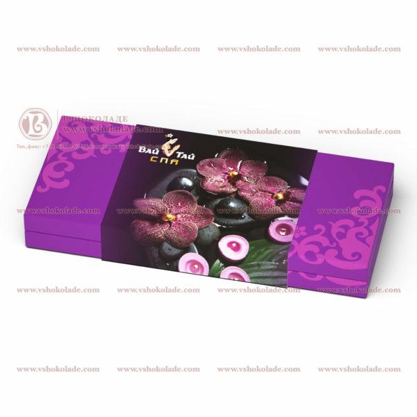 Набор двух шоколадных плиток по 100 г в подарочной упаковке с лого