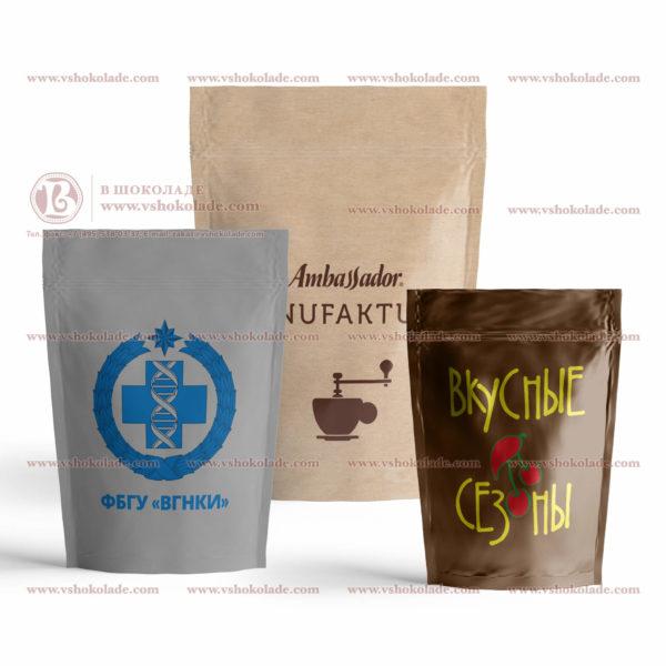 Набор брендированных шоколадок в Дой-Пак