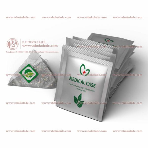 Чайные нейлоновые пирамидки в саше с логотипом