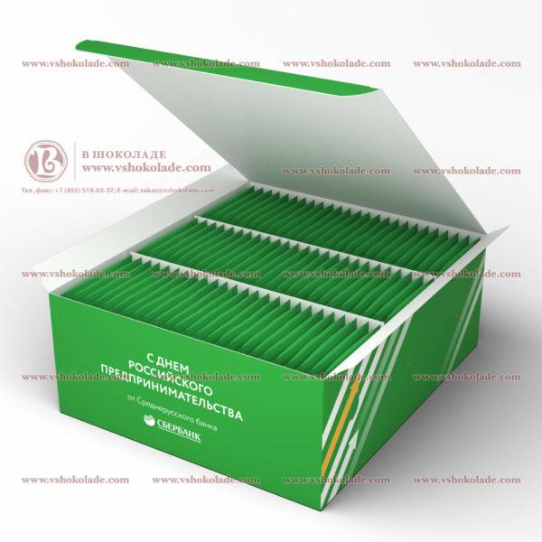 Чай с логотипом клиента в подарочной коробке 75-99шт