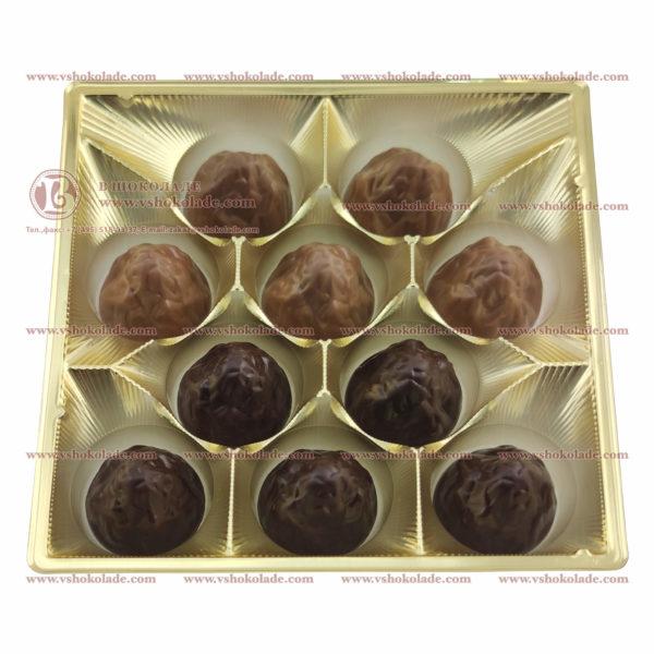 """Набор шоколадных конфет """"Цветок 18"""" с коробке с логотипом заказчика"""