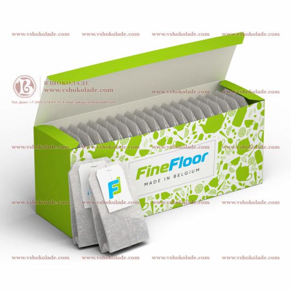 20 фильтр-пакетов чая в пачке с логотипом клиента