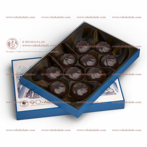 """Набор зефира в шоколаде с логотипом """"Классическая коробка"""""""