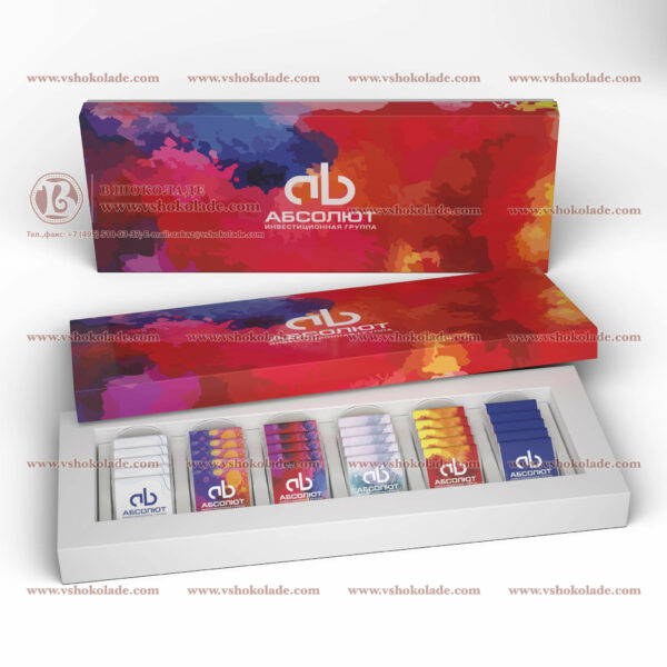 "Набор на 30 шоколадных плиток с логотипом заказчика ""Амфитеатр 30"""